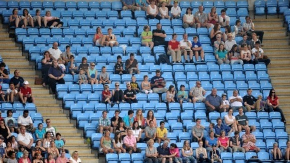 Empty seats during the Womens Football, First Round, Group F match at the City of Coventry Stadium, Coventry.