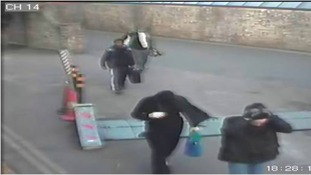 CCTV images of the four raiders