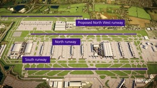 A computer generated image of the new runways proposal.