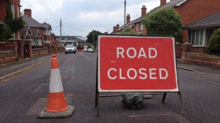 Road closed in Wellington