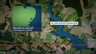 The body of a man, believed to be in his 20s, was pulled from Alton water Reservoir in Tattingstone.