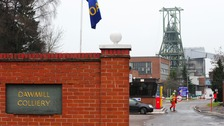 Dawmill Colliery in 2012 before it closed