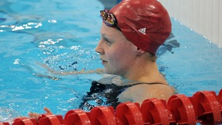 Ellen Gandy after finishing out of the medals in the 100m butterfly final