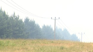 The fire has now grown to 30 acres.