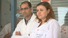 Husband and wife doctors who helped save the lives of Brits in Tunisia.