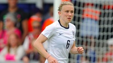 Laura Bassett in action for England