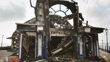 Eastbourne Pier was devastated by the fire