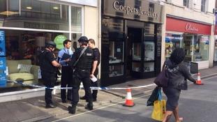 Armed raid at Coopers jewellery in Barnstaple