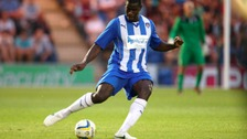 Magnus Okuonghae in action for Colchester United.