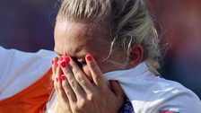 Laura Bassett was left distraught after scoring an own goal during injury time.