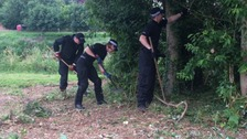 Police are searching for evidence in Hereford
