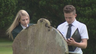 Pupils went to Wigton graveyard.