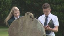 Pupils went to Wigton graveyard.