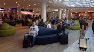 Departure lounge Bristol Airport