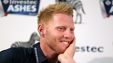 Ben Stokes at the press conference.