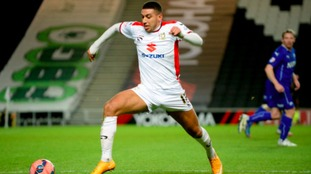 Daniel Powell in action for MK Dons.