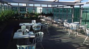 Bristol airport terrace