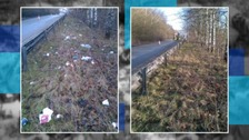 The clean up along the A42