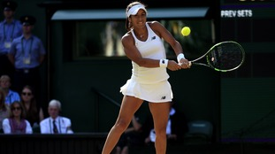 Heather Watson is putting in a battling performance