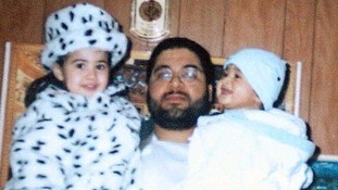 Shaker Aamer with two of his children, son Michael and daughter Johninh.