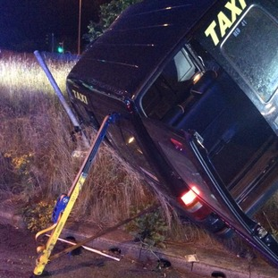 Six passengers were trapped in the back