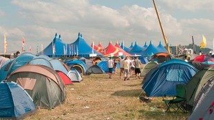 One of the campsites at Global Gathering