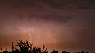 Lightning over Gloucestershire