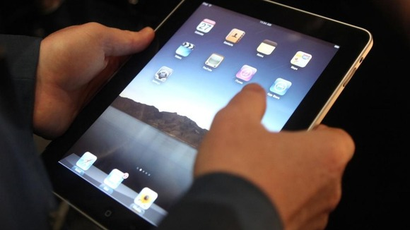 Man holds an IPAD