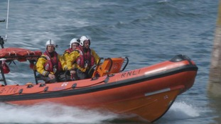 volunteers on the RNLI boat