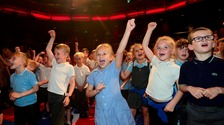 Primary school pupils join in the Big Sing