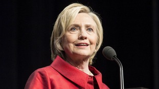 Hillary Clinton accused China of stealing 'huge amounts' of government information.