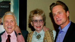 Kirk Douglas, Diana Douglas and their son, actor Michael