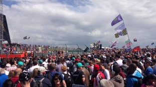 Thousands of people were at Silverstone today for the British Grand Prix.