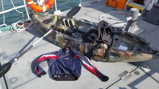 Capsized kayak sparks search off Devon coast