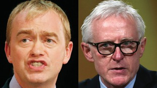 Tim Farron (left) and Norman Lamb. The two rivals for the Liberal Democrat leadership.