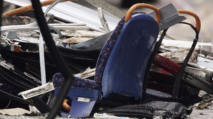 The wreckage of a bomb attack on the number 30 bus in Tavistock Square on 7 July 2005.