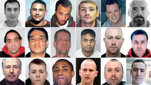 The 18 men sought by Operation Captura.