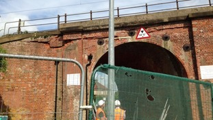 The repair work at Witham.