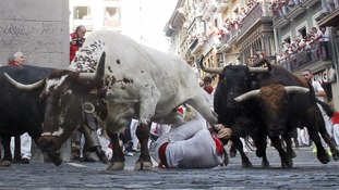 Three gored and 10 hospitalised in bull running festival.