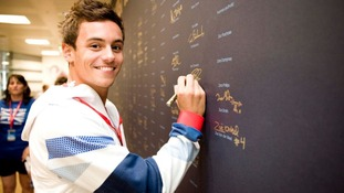 Daley signs up at Team GB house