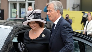 Tony and Cherie Blair arrive for 7/7 memorial.