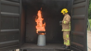 The fire service demonstrated how quickly barbecue fires can escalate.