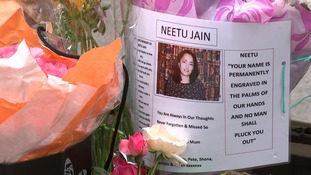 A family tribute left to 7/7 victim Neetu Jain at Tavistock Square