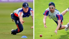 Ben Stokes (left) and Mark Wood (right)