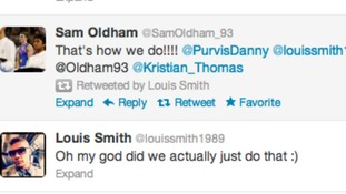 Louis Smith's Twitter feed