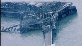 In 1976 a fire destroyed the pier head.