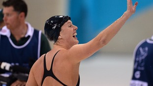 USA's Allison Schmitt after finishing second in her Women's 200m Freestyle Semifinal
