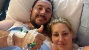 Matthew and Saera in hospital