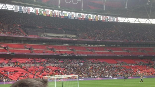 Empty stands as women's Team GB football team meets Brazil