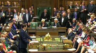 George Osborne delivers his Budget to the House of Commons.